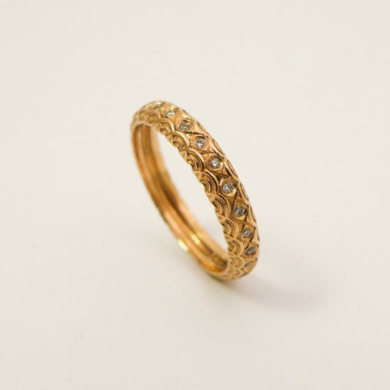 unique engagement ring gold and diamonds wedding band