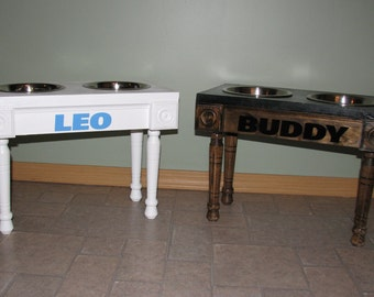 Personalized Elevated Dog Feeder