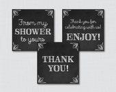 Chalkboard Baby Shower Pr...