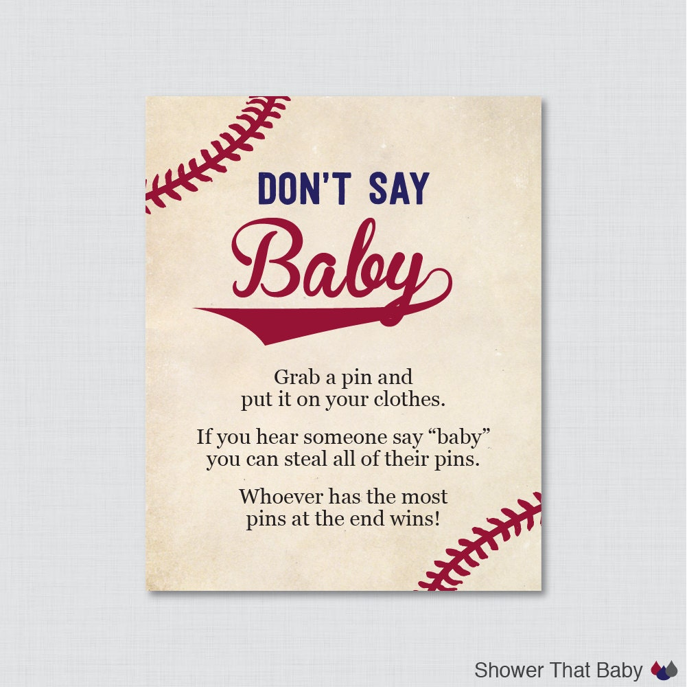 baseball don 39 t say baby baby shower game printable diaper