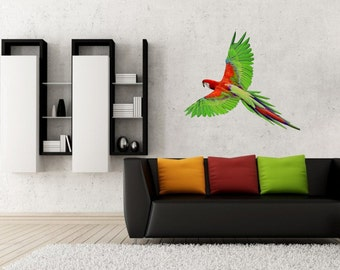 Parrot vinyl wall car laptop decal/sticker