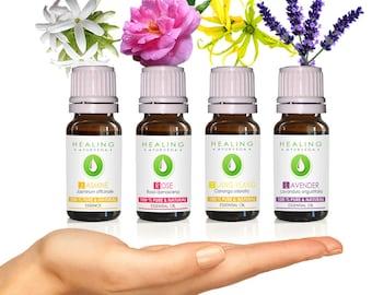 Flower Essential oils set - Sensual Aromatherapy oils - skin care - Bath & beauty oils set -Floral essential oils- Uplifting - Pure essences