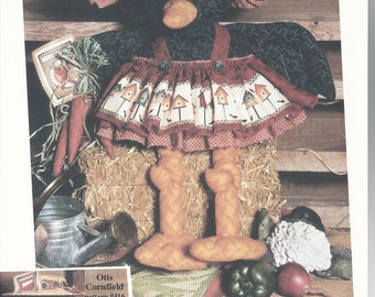 Vintage Girl Crow Doll Pattern Hattie Cornfield Gardening Crow by Happy Hollow Designs 1994 new uncut