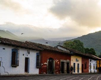 Sunrise in Antigua, Guatemala Photo Print 8x10, 11x14, 16x20 or canvas