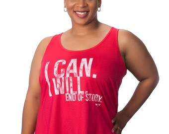 Plus Size Women's Motivational Tank Top Curvalicious (sizes 2X-4X) Dynamic-Top I Can