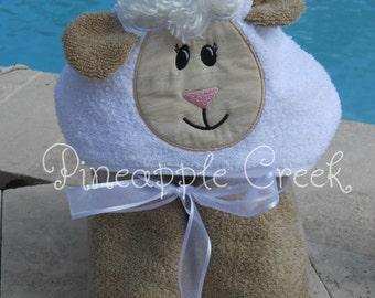 Lamb Hooded Towel FREE MONOGRAM