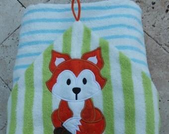 Baby Fox Hooded Towel MONOGRAM INCLUDED