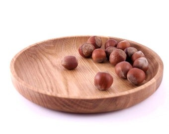 Wooden dish - wooden plate