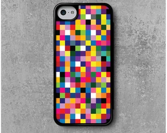 iPhone 5C Case Multicolored Pixels + Free Worldwide Delivery