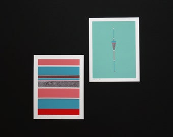 Handmade 5 Color Screenprint of a Mint Floater, limited edition