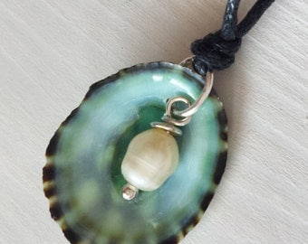 Necklace for the Beach - SeaShell Limpet jewelry