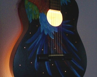 Upcycled Acoustic Guitar Light - Musical Instrument Lamp