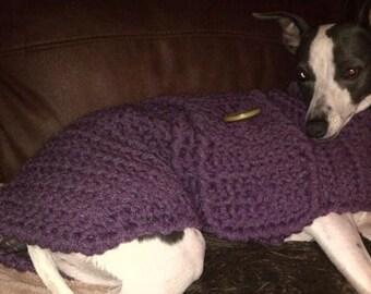 Italian Greyhound Sweater Italian Greyhound Clothes Crochet Dog Sweater Winter Dog Coat Dog Clothing