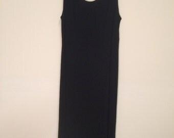 Vintage K Petite Black Sleeveless Dress