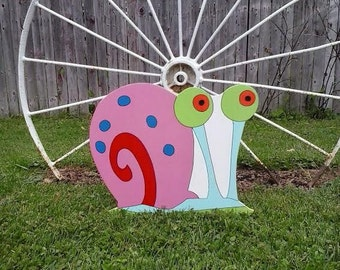 Gary The Snail,Spongebob Square Pants,Outdoor Wood Yard Art, Lawn Decoration