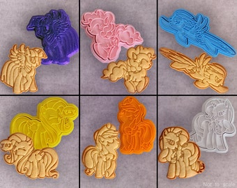 MLP:FiM My Little Pony Mane 6 Cookie Cutter Set