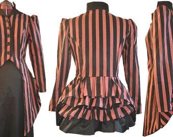 Victorian Stripe Lady Anne Bustle Jacket