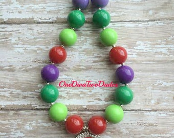 The Very Hungry Caterpillar chunky necklace