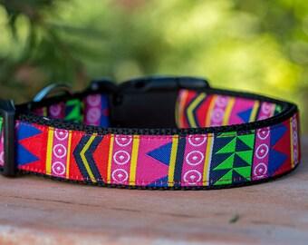 Retro Dog Collar / 90s Dog Collar / Australian Dog Collar