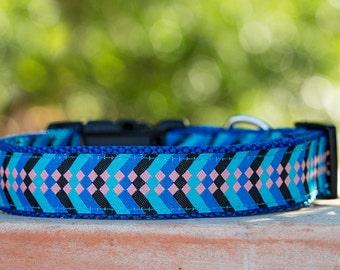 Blue Dots Dog Collar