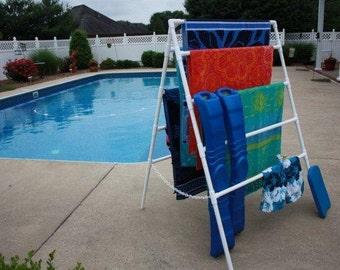 outdoor beach towel rack