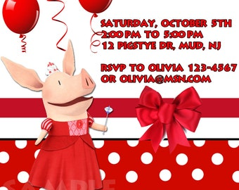 Personalized Olivia Birthday Invitation - Print Your Own