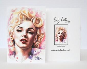 "Fine Art Greeting Card - Marilyn Monroe 6"" x 4"""