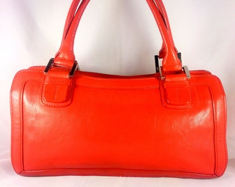 Nordstrom Collection Red Leather Satchel