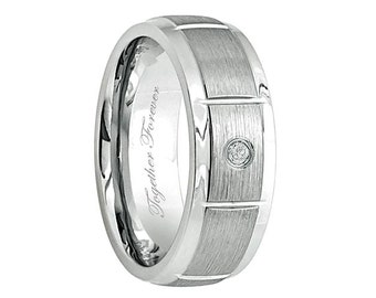 Firefighter S Thin Red Line Titanium Wedding Band
