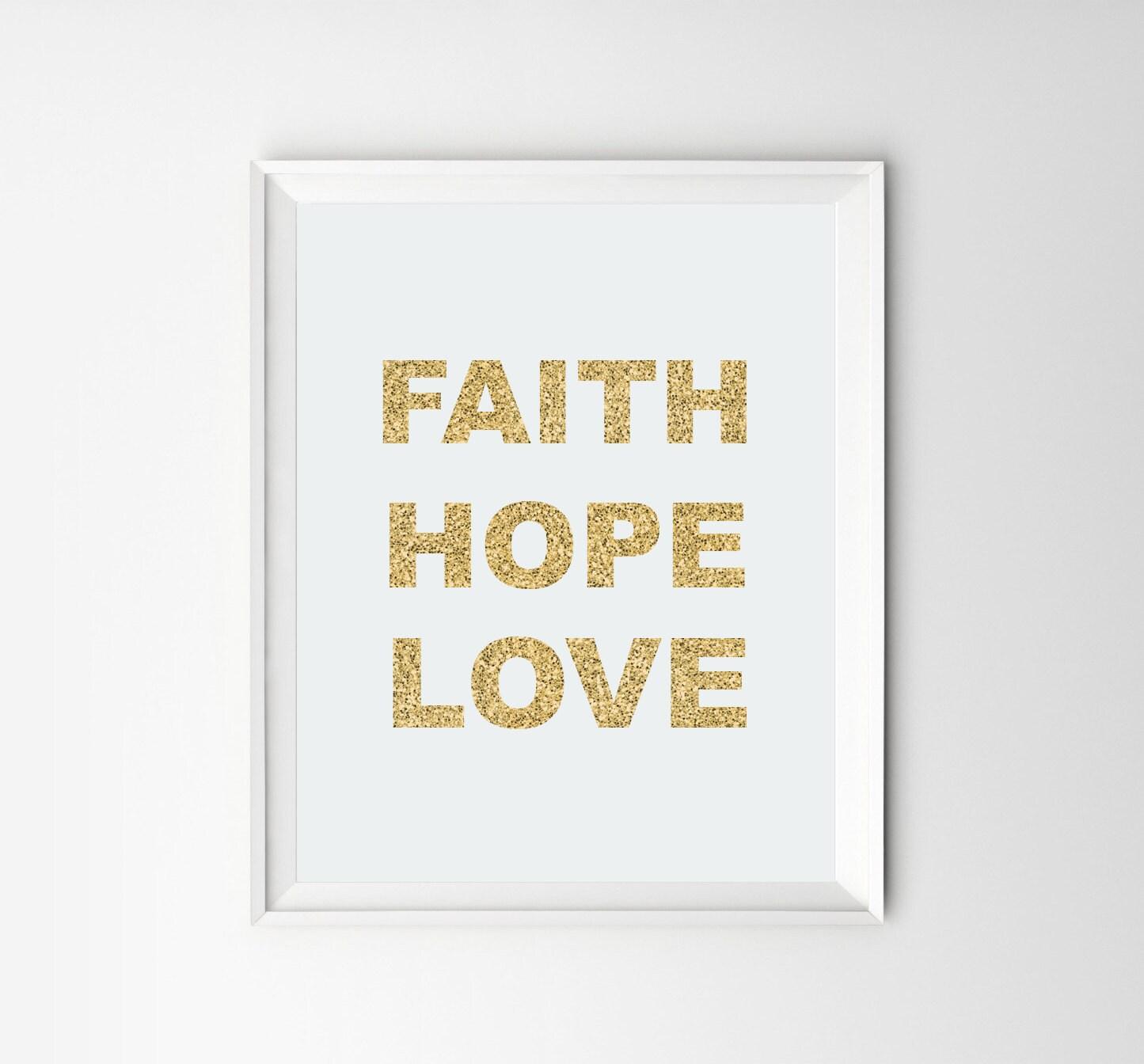 Faith hope love wall decor driverlayer search engine for Faith decor