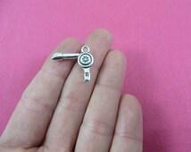 Hair Dryer Charms Bulk Antique Silver Tone 1790-B34215 Hair charm Hairstylist charm 5