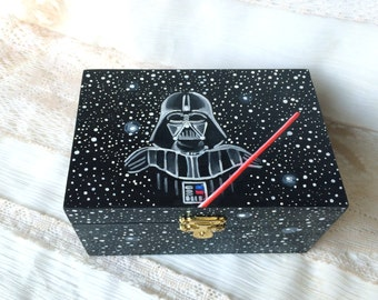 Darth Vader Star Wars box , Darth Vader jewelry box, STAR WARS Darth Vader storage box, Darth Vader home decor box