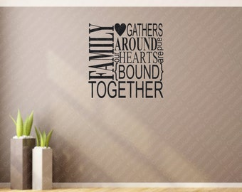 Family Together Subway Art  Vinyl Wall Decal , Wall Vinyl   Decal,custom Wall decal,custom wall quote, Vinyl Wall Quote,