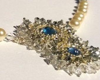 Cream Pearl  Swarovski sterling silver seed beads.