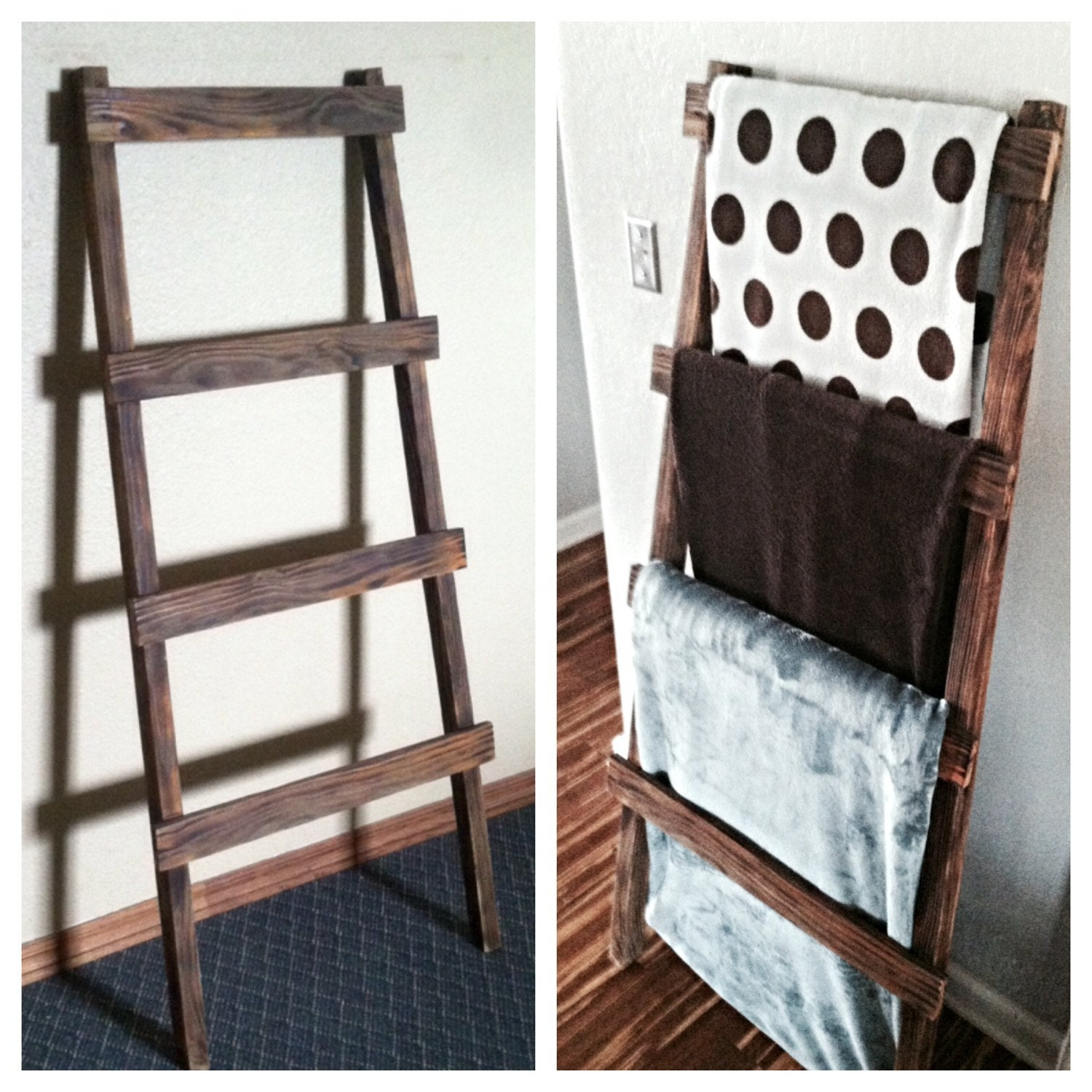reclaimed wood ladderblanket ladder reclaimed by