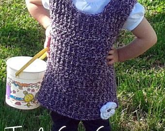 Toddler Tunic Top~Spring tunic~ Girls Jumper~Summer Crochet Top
