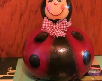 Painted ladybug gourd, lady bug decoration