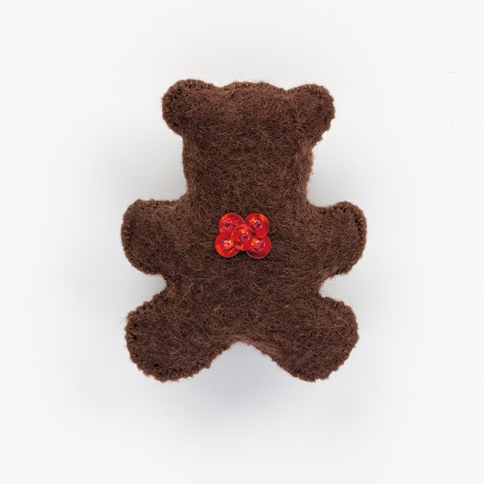 Easy Teddy Bear Pattern Personalized Christmas Ornament