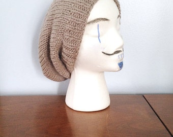 """Mens Slouchy Beanie """"Everett"""" - Knit Beanie - Ribbed Beanie - Hipster Beanie - Mens Beanie - Slouchy Beanie - Hipster Hat - Knit Tam Hat"""