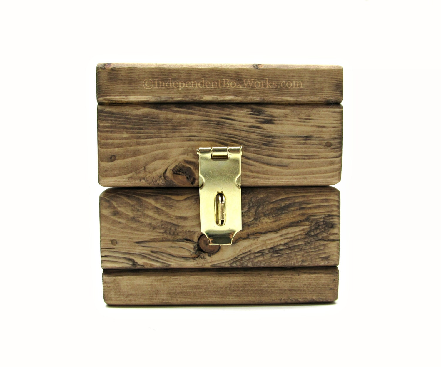 Rustic small wooden storage box handmade little wood cube - Small rustic wooden boxes ...