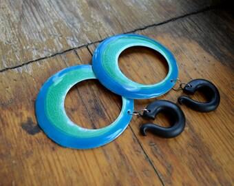 """Enamel circle dangling hook gauges,hook gauge,size 4,5,6,8,10,12,14,16,18,20 mm,6g,4g,2g,0g,00g,3/16,1/4,1/2,5/16,9/16,5/8,3/4,7/8"""""""