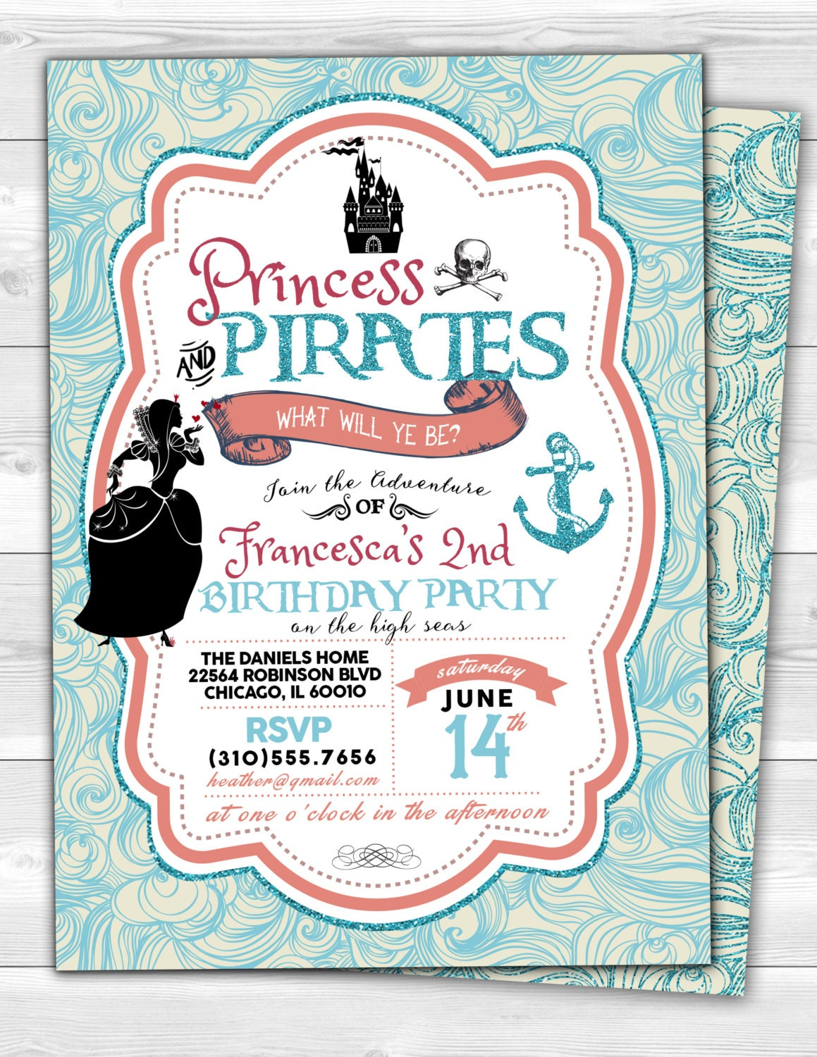 The pictures for --> Pirate Princess Party Invitations