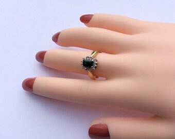 Tourmaline and Diamond Ring