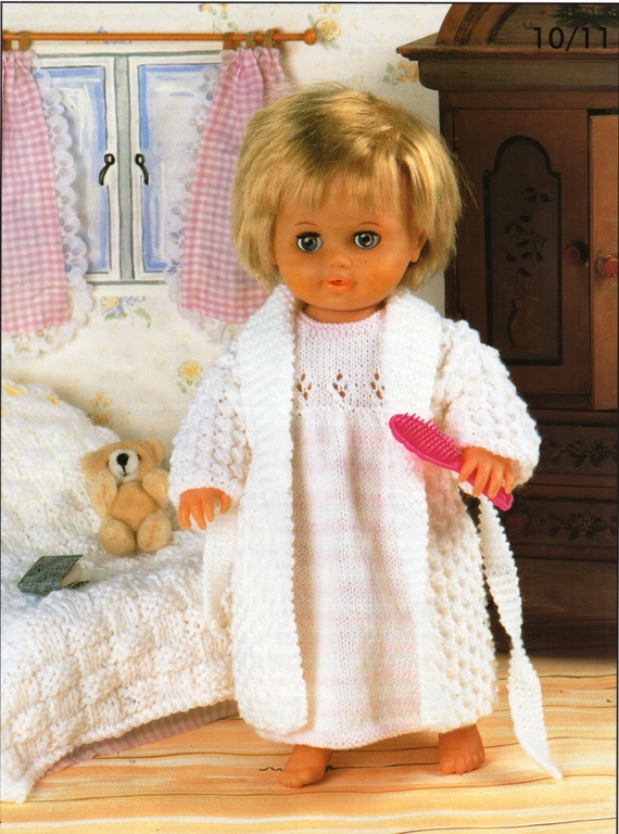 Baby dolls clothes knitting patterns for dolls nightdress