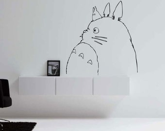 Totoro Profile VInyl Decal for Wall/ Laptop