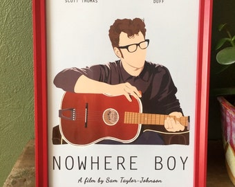 Nowhere Boy film poster - A4 print