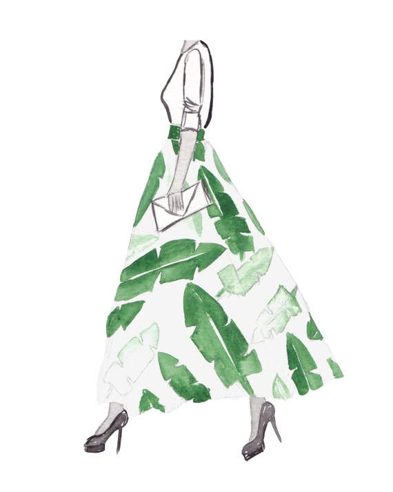 Items similar to bianca hand painted fashion illustration for Bedroom gifts for her