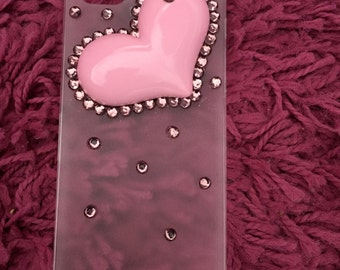 kawaii iphone 5 case with pink heart.funda kawaii for your iphone. love.