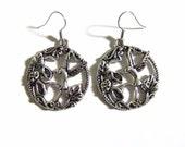 Silver Hummingbird Earrings, Humming Bird Earring, Hummingbird Jewelry