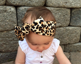 Baby headwrap in LEOPARD Print - Top Knot